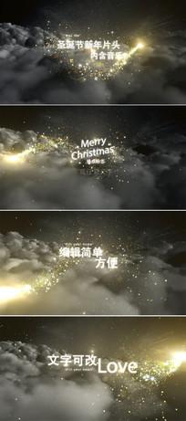 金色粒子圣诞节片头模板