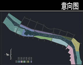 某河生态走廊景区分区图