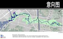 某溪两岸景观雨污处理湿地图