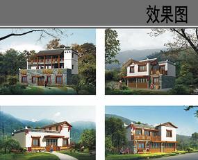 农家住宅建筑设计效果图