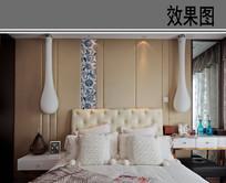 欧式卧室布置效果图