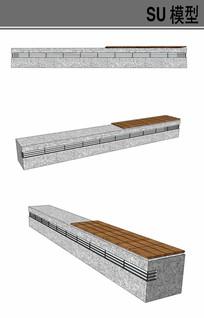 石凳su模型