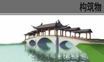 水上廊桥ps素材
