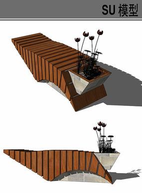 特殊形状坐凳su模型