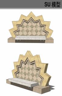 特殊造型坐凳su模型