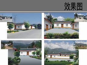 乡村建筑外立面改造效果图