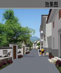 乡村街道景观整治效果图 JPG