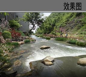 乡村溪流景观整治效果图