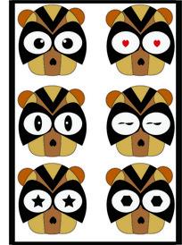 浣熊表情包插画