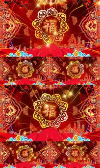 喜庆节日福字旋转LED舞台视频