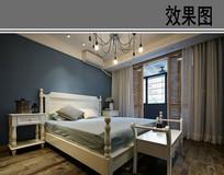 英美式卧室室内装修效果图