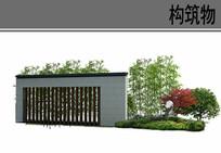 中式景区植物配置ps分层素材