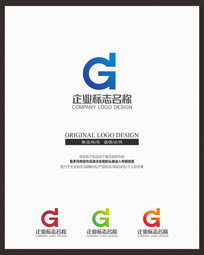 GD字母组合企业品牌标志设计