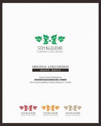 保健品药品艾叶产品标志设计 CDR