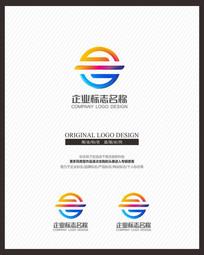 炫彩立体创意商业服务企业标志