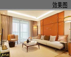 橙色大客厅