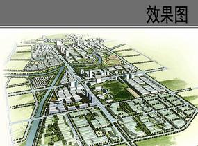 城乡规划设计3d鸟瞰效果