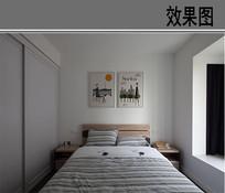 纯白洁简卧室