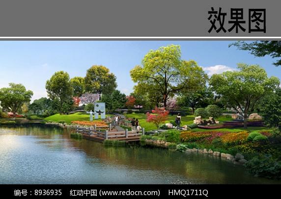 村庄滨水景观设计效果图图片