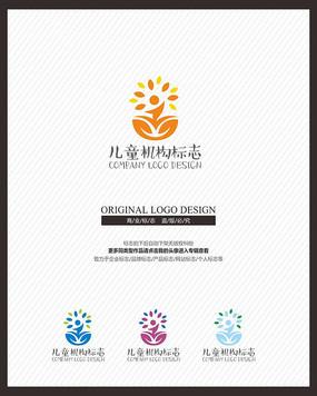 儿童亲子教育婴童品牌标志设计