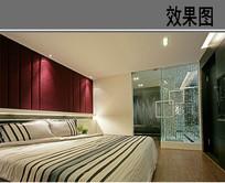 仿酒店式装修卧室 JPG