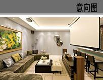 家庭客厅影院装修设计
