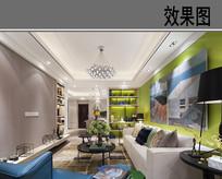 绿色主题客厅