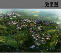 美丽村落景观鸟瞰图 JPG