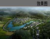 美丽山村景观规划鸟瞰图