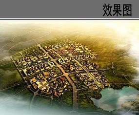 美丽乡村规划鸟瞰图