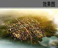 美丽乡村规划鸟瞰图 JPG