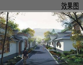 美丽乡村中式住宅设计效果图 JPG