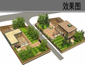 民族村建筑户型鸟瞰图