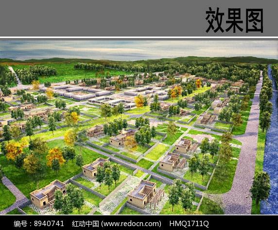 民族村住宅片区方案鸟瞰图图片