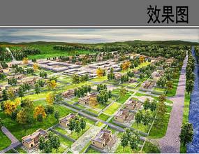 民族村住宅片区方案鸟瞰图