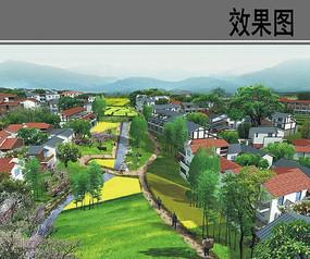 农村规划设计透视效果图 JPG