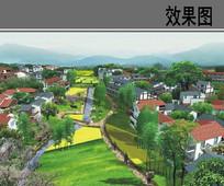农村规划设计透视效果图