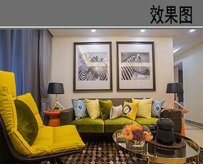 深黄的客厅 JPG