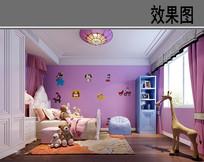 童话元素儿童卧室