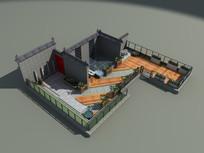 屋顶花园效果图3d模型