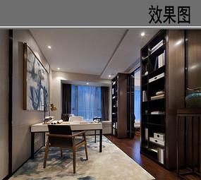 现代中式小书房