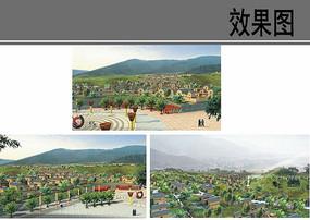乡村活动广场景观效果图