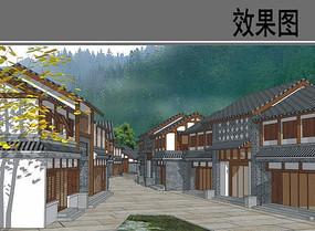 乡村建筑设计透视效果图