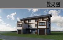 乡村建筑外观改造方案效果图