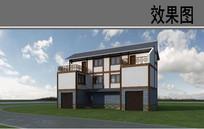 乡村建筑外观改造效果图