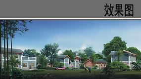 乡村景观设计效果图