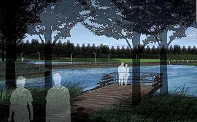 乡村生态湿地公园效果图