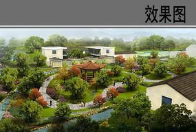 乡村小游园设计鸟瞰图 JPG