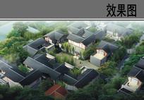 乡村中式建筑院落鸟瞰图 JPG