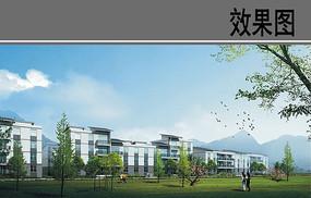 乡村住宅区设计建筑效果图